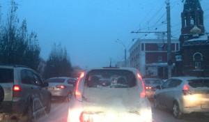 Пробка в Барнауле.