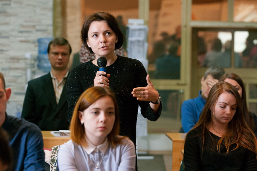Татьяна Сажаева встретилась с молодыми предпринимателями.