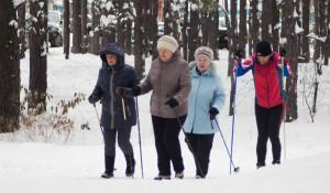 Барнаульские лыжники в октябре.