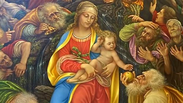 """Фрагмент картины """"Посвящение Леонардо да Винчи"""" Константина Дверина."""