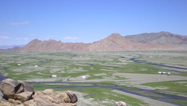 Монголия. Река.