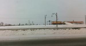 Железная дорога. Уборка снега.