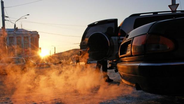 Морозы. Автомобили зимой.