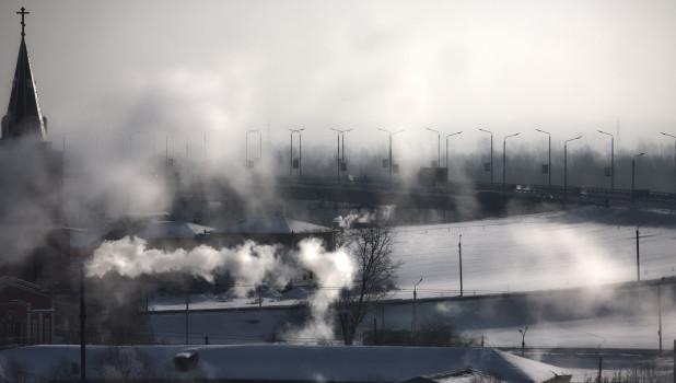 Морозы. Зима. Барнаул.