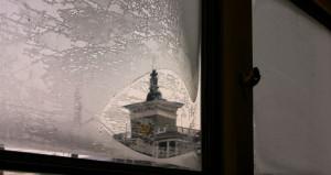 Морозы. Зима. Барнаульский шпиль.