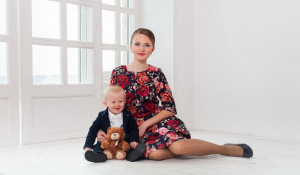 Диана Балашова и ее маленький брат Дима.