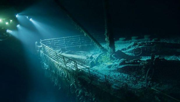 """""""Титаник"""" под водой."""