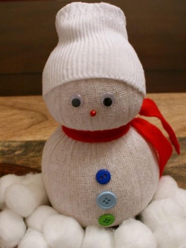 как сделать из носка снеговика фото книга служит