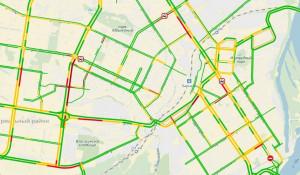 Пробки в Барнауле утром 13 декабря.