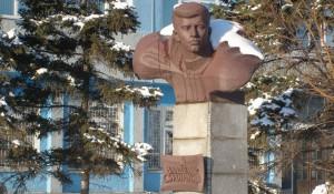 Бюст Героя Советского Союза Владимира Смирнова.