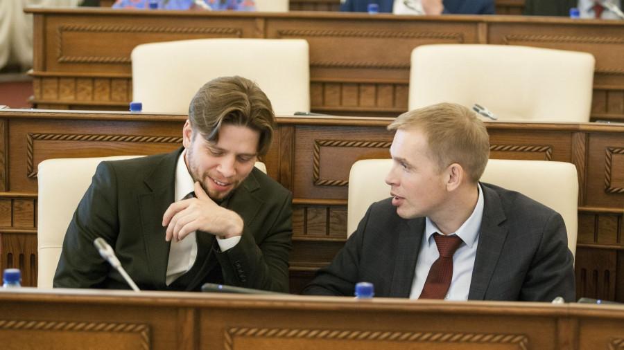 Александр Николайчик (слева) и Александр Молотов — молодые лидеры «Справедливой России».