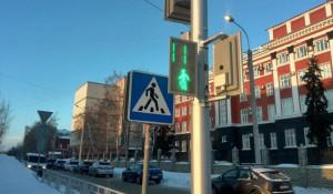 Светофор на пересечении проспекта Ленина и ул. Анатолия.