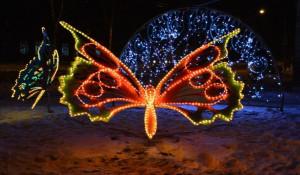 Барнаул украсили к Новому году.