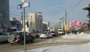 Пробки в Барнауле 29 декабря.