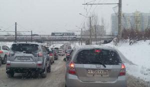 Пробка на ул. Малахова.