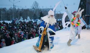 Новогодний праздник на площади Сахарова. 30 декабря 2016 года.