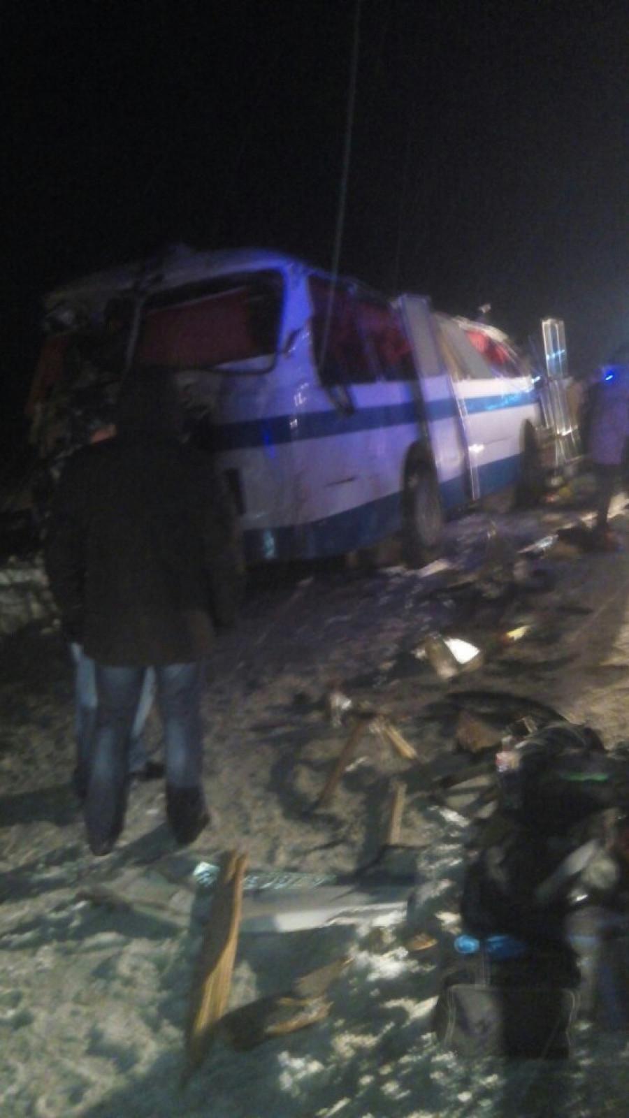 В Алтайском крае на трассе столкнулись два автобуса