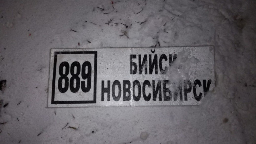 В Алтайском крае на трассе столкнулись два автобуса.