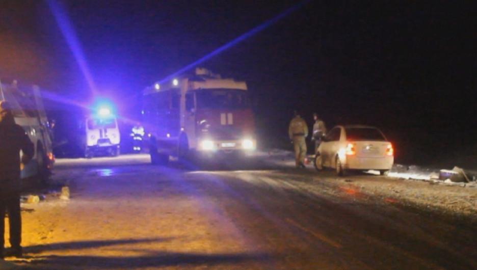 ДТП на Чуйском тракте с участием двух автобусов