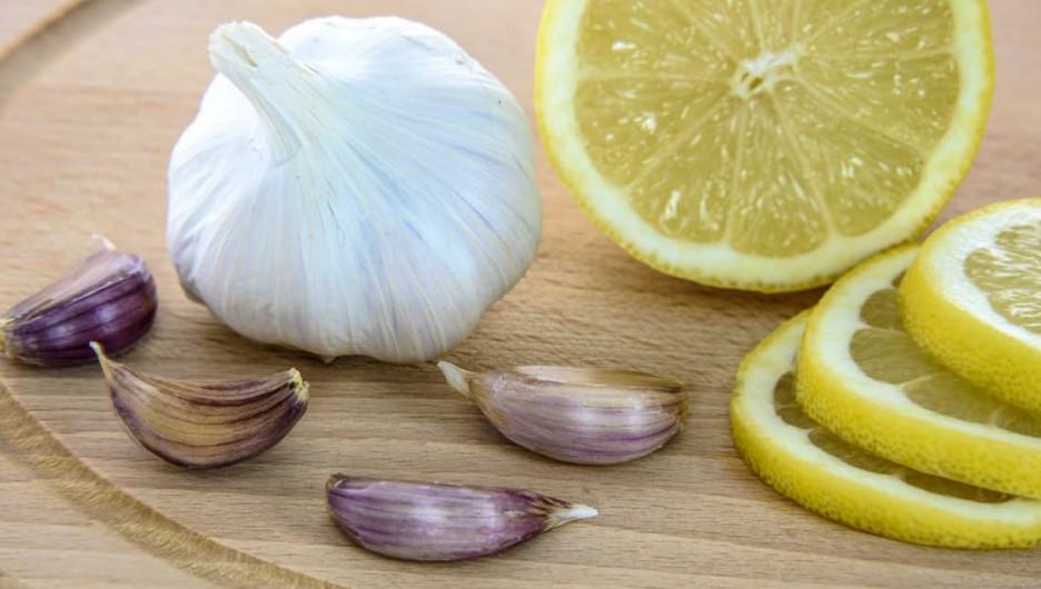 Лимон и чеснок. Профилактика простуды.