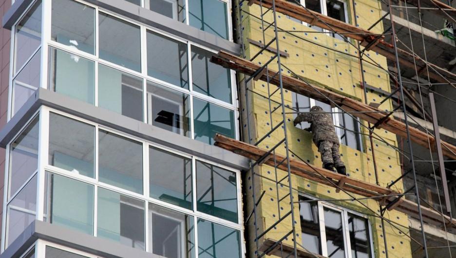 Ход строительства в жилом комплексе «Демидов парк». Январь 2017 года.