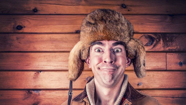 Мужчина в шапке. Русский.
