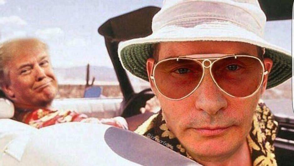 Фотожабы и мемы о словах Путина про российских проституток.