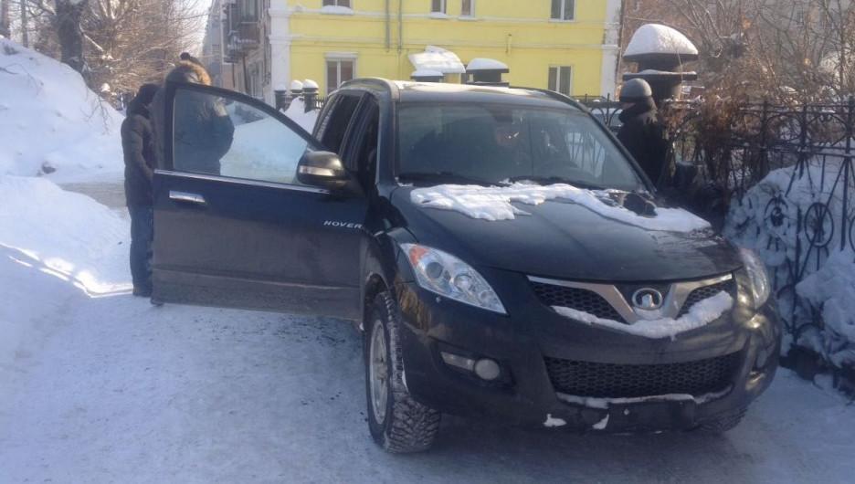Задержание высокопоставленного полицейского в Барнауле.