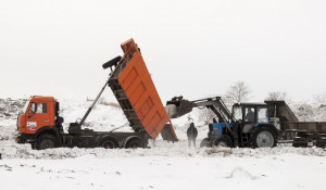 Полигон ТБО принимает снег бесплатно.