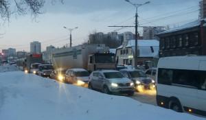 Пробки в Барнауле.