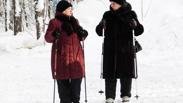 """Скандинавская ходьба на лыжной базе """"Динамо"""""""