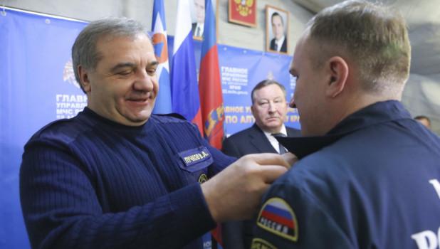 В Барнауле глава МЧС Владимир Пучков обсудил предстоящий паводок. 1 февраля 2017 года.