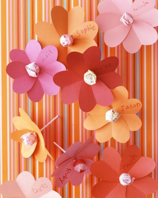 оформление открыток цветами из бумаги своими руками