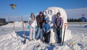 В Новоалтайске устроили конкурс снежных фигур.