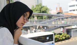 Девушка в хиджабе, мусульманка.