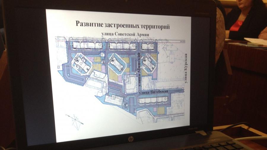 Предложение по планировке квартала вдоль Советской Армии.