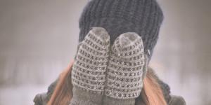 Женщина зимой.