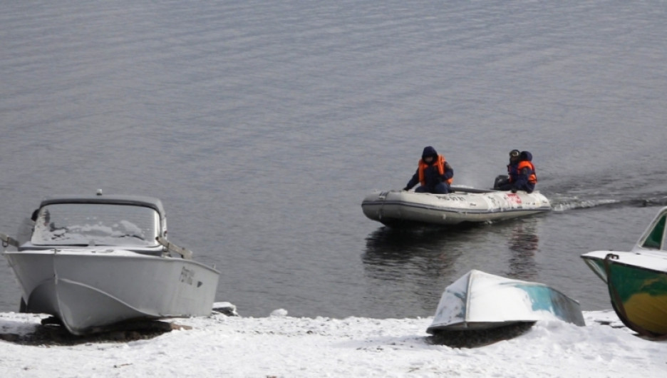 Поисковая операция на Телецком озере. 13 февраля 2017 года.