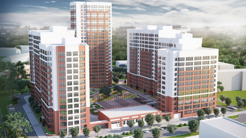 Визуализация жилого комплекса на месте бывшего Барнаульского ЛВЗ.