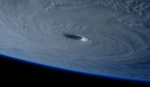 Земля из космоса. Тайфун.