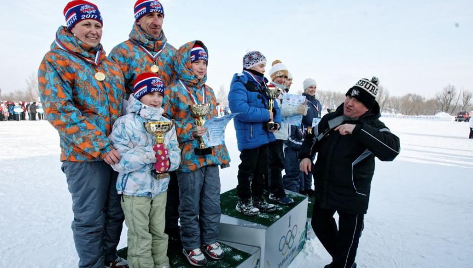 Награждение спортивных семей на XXXII зимней олимпиаде сельских спортсменов Алтая