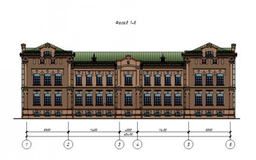 Проект здания, в котором планируют разместить детский сад.
