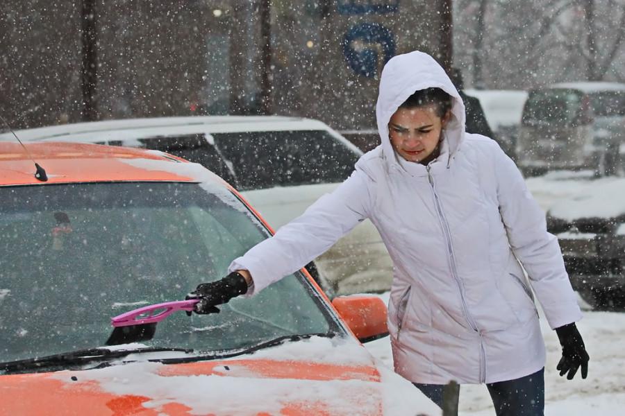 Барнаульские девушки ждут весну.