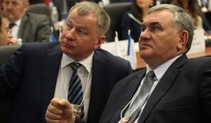 Валерий Гачман и Александр Лукьянов на Зимней зерновой конференции в Белокурихе. 2 февраля 2017 года.