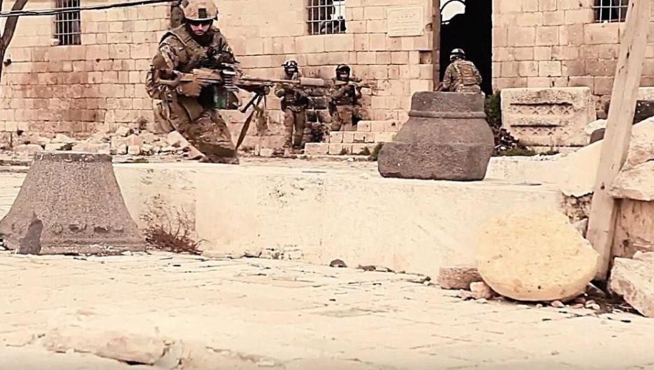 Российские спецназовцы в Пальмире.