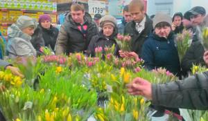 Цветы в Барнауле. 7 марта 2017 года.