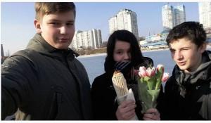 Россиянки отмечают 8 марта.