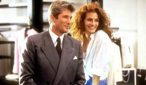"Кадр из фильма ""Красотка"". Джулия Робертс и Ричард Гир."
