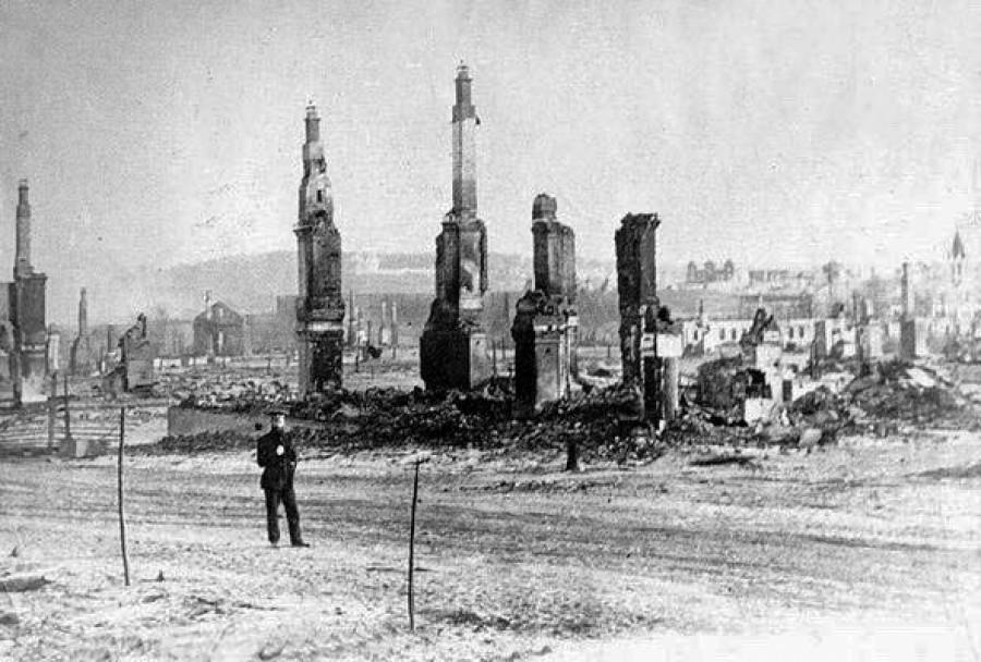 Барнаул после пожара 1917 года.