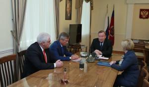 Александр Карлин на встрече с Ириной Лазаренко, Сергеем Землюковым, Андреем Максименко.